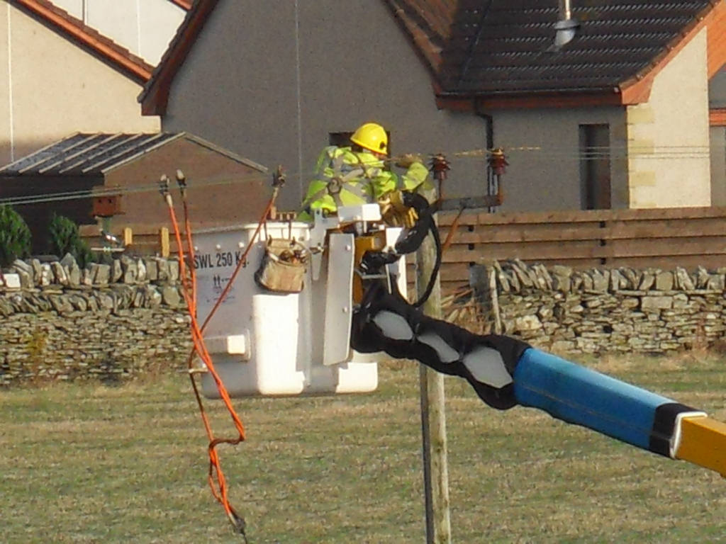 Photo: These Guys Restored Power In Caithness After The Storm