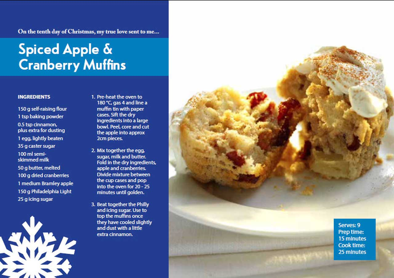 Photo: Tenth Day Of Christmas - Spiced Apple & Cranberry Muffins