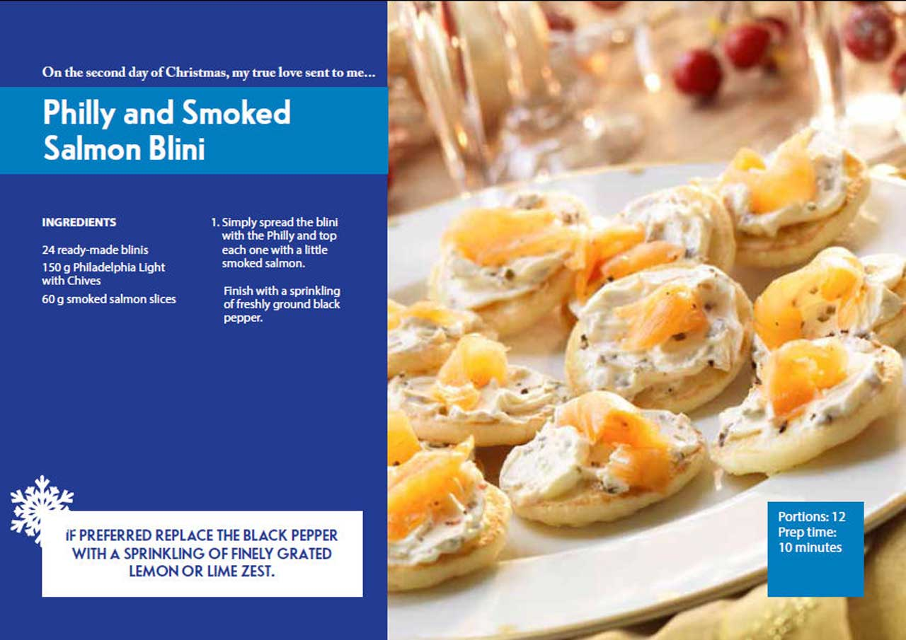 Photo: Second Day Of Christmas - Philly and Smoked Salmon Blini