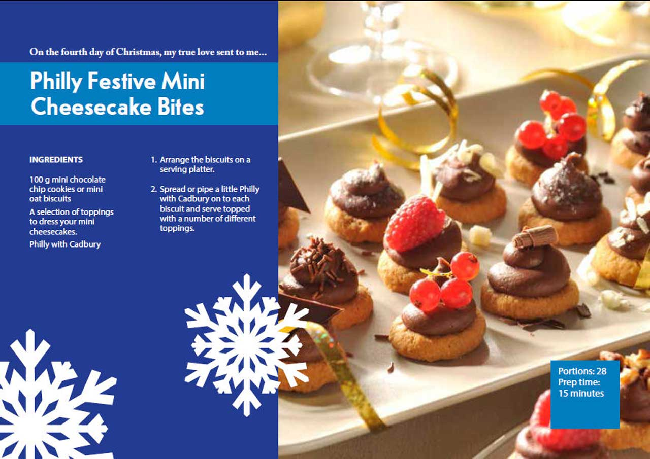 Photo: Fourth Day Of Christmas - Philly Festive Mini Cheesecake Bites