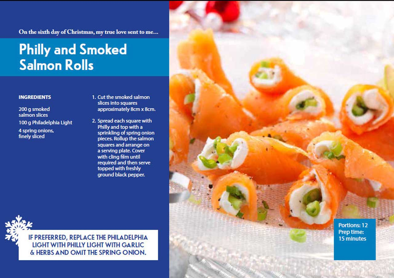 Photo: Sixth Day Of Christmas - Philly and Smoked Salmon Rolls