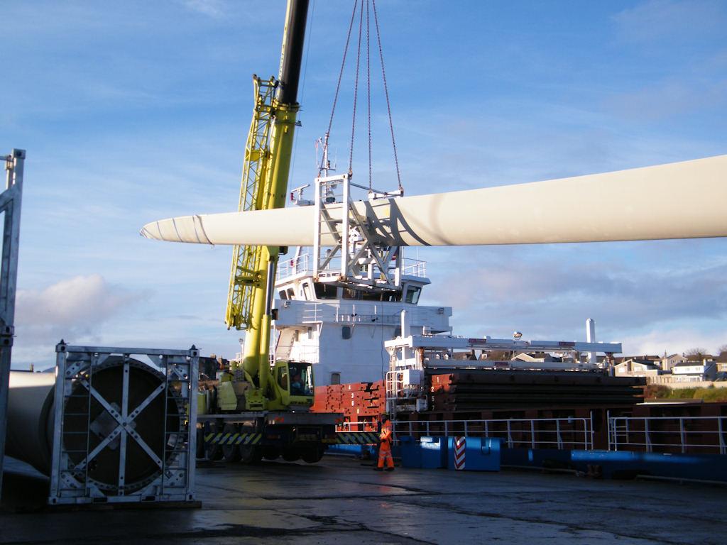 Photo: Nortrader Delivering Turbines For Wathegar Wind Farm Near Wick