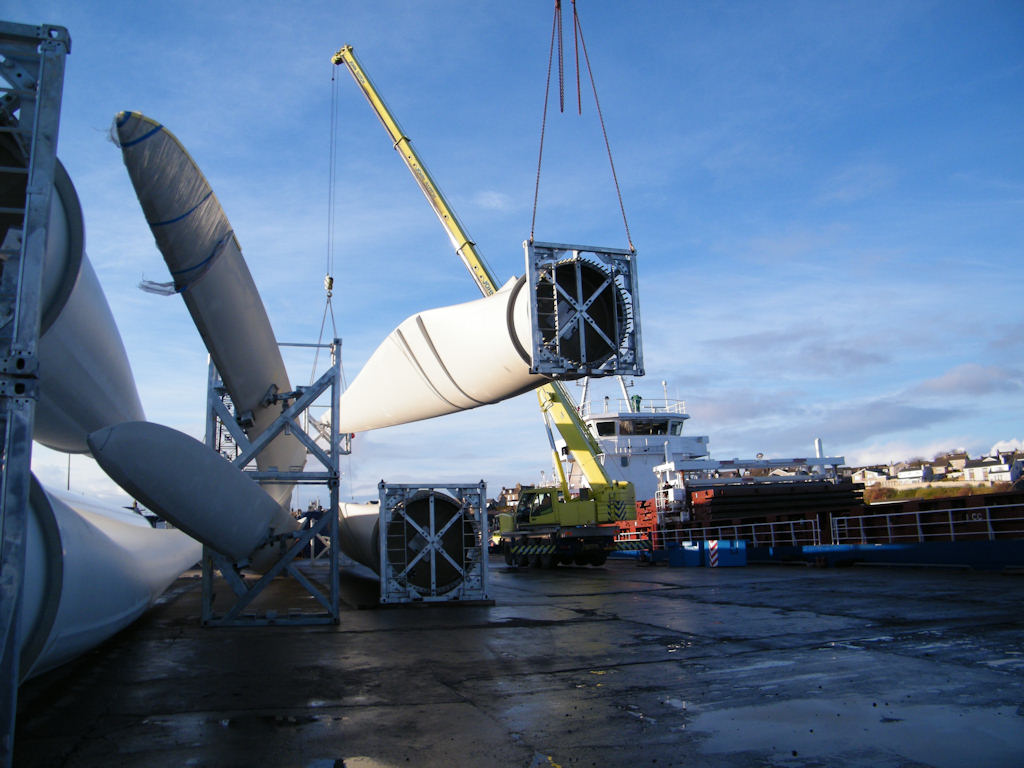 Photo: Nortrader Delivering Turbines For Wathegar Wind Farm Near Wick