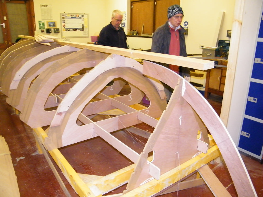 Photo: The new boat construction is going well