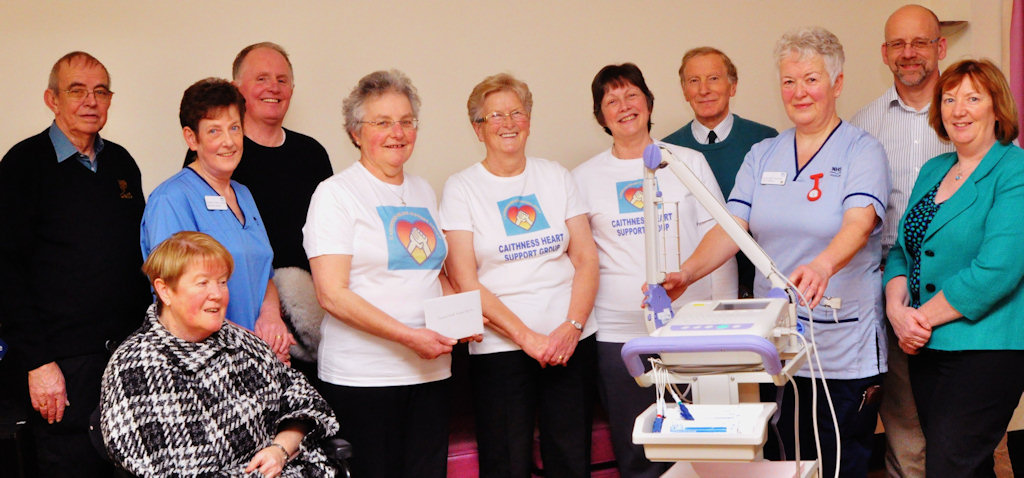 Photo: New ECG Machine Presented By Caithness Heart Support Group