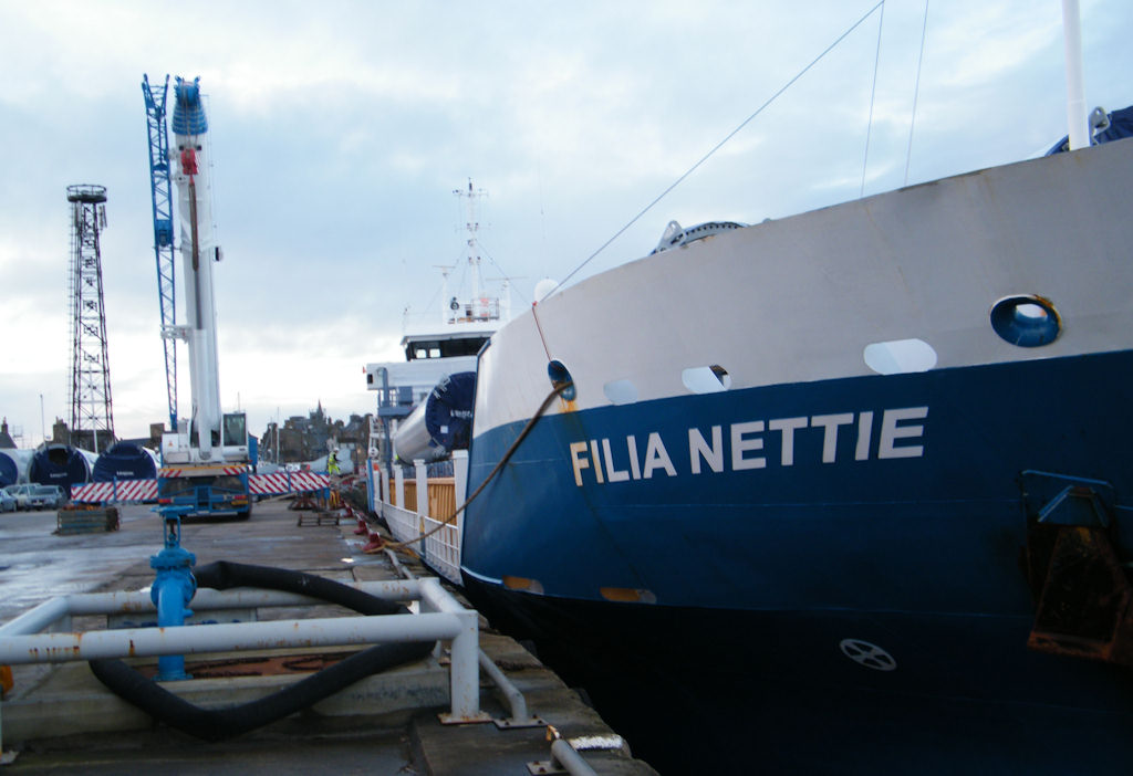 Photo: More Wind Turbines Arrive At Wick Harbour on Filia Nettie