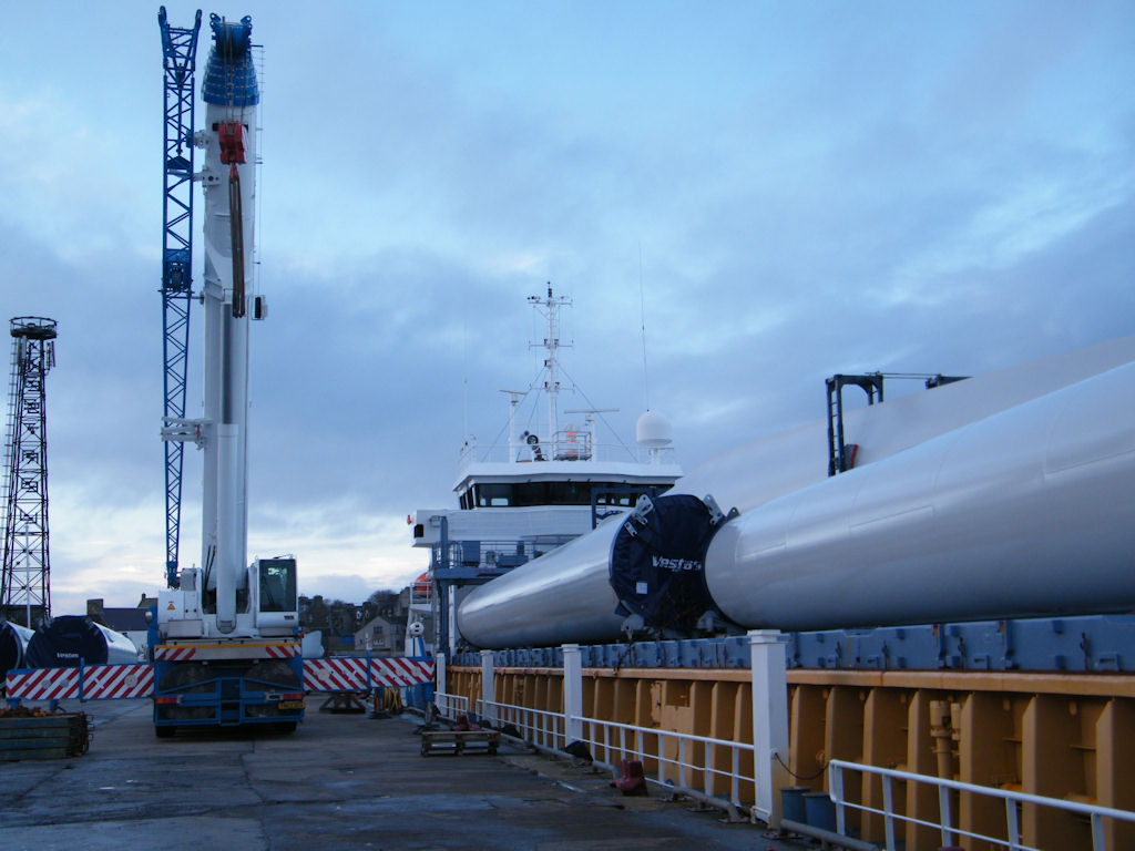 Photo: More Wind Turbines Arrive At Wick Harbour on Filia Nettie
