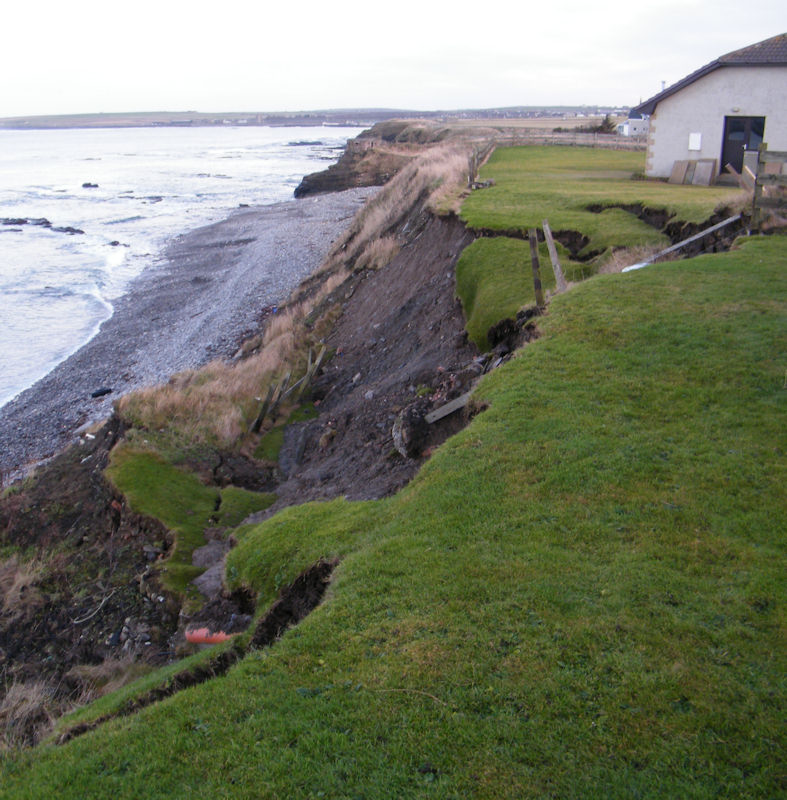 Photo: Coastal Colllapse At Back of Coastguard Station, Scrabster