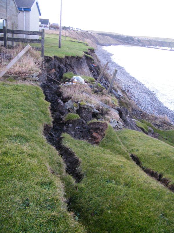 Photo: Coastal Colllapse At Back of Coastguard Station, Scrabster