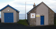 Cliff collapse at rear of Scrabster Coastguard station