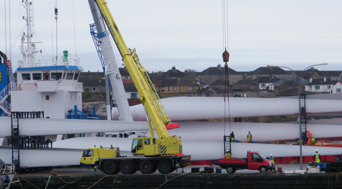 Photo: More Wind Turbines Arrive At Wick Harbour