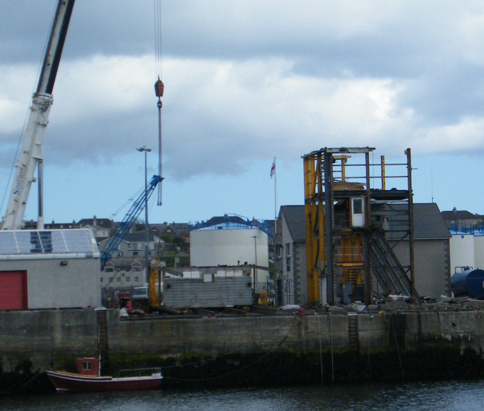 Photo: The Ice Plant Being Dismantled At Wick Harbour