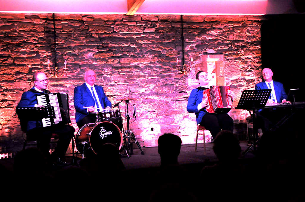 Photo: Brandon McPhee and his band At Ackergill Tower