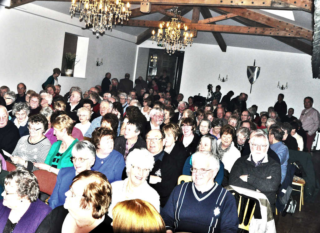 Photo: The Audience Hear Brandon McPhee At Ackergill Tower