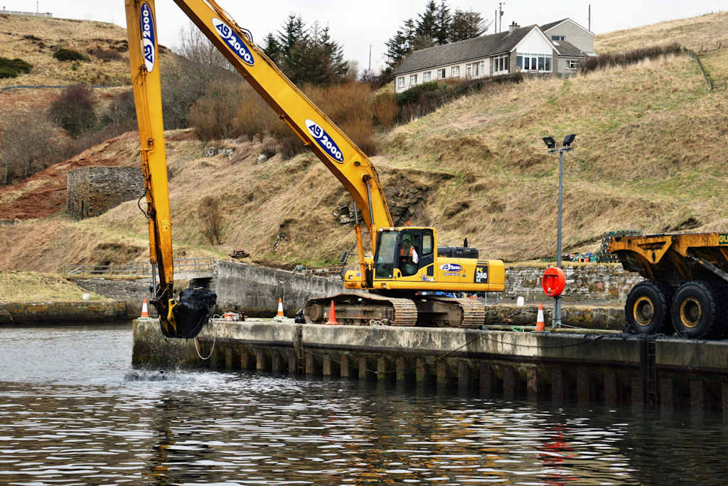 Photo: Dredging At Lybster Harbour