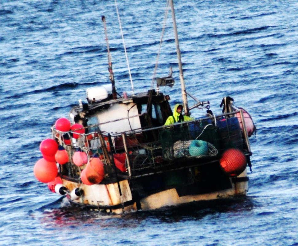 Photo: A fishing boat at John O'Groats