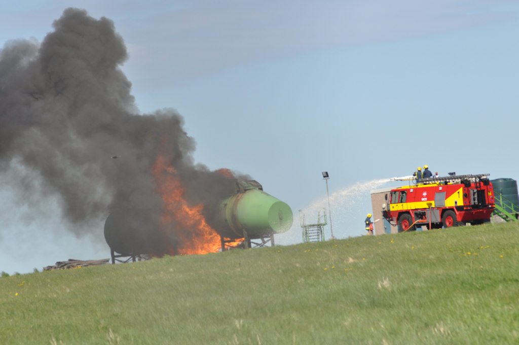 Photo: Putting Out A Practice Fire At Wick Airport