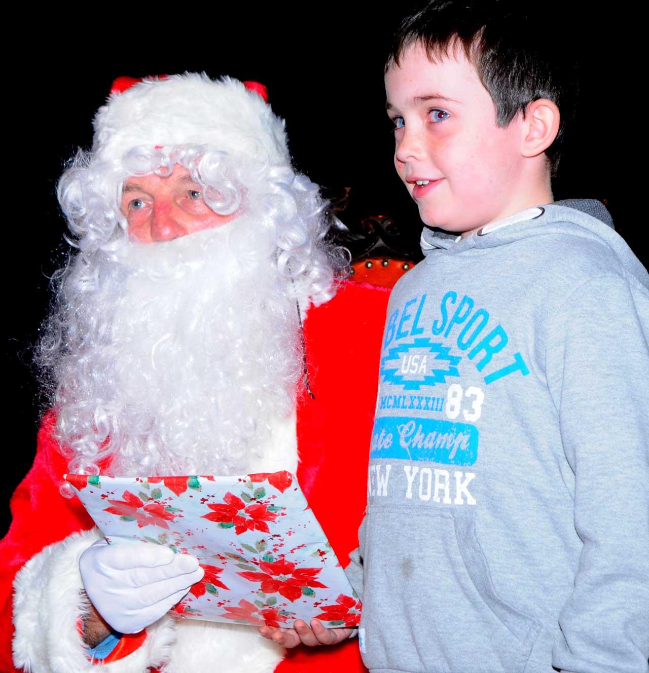 Photo: Wick Gets Christmas Going - Santa