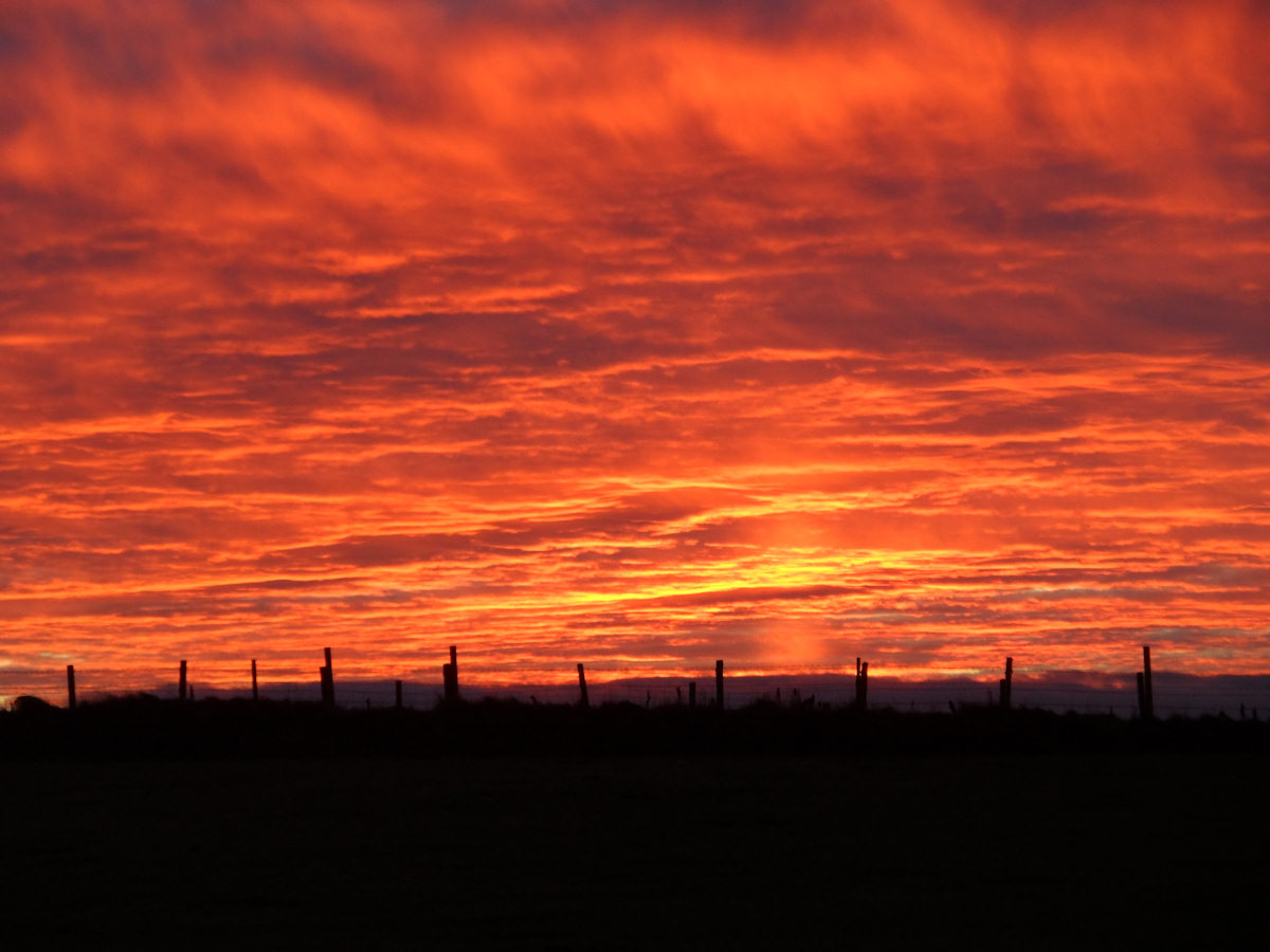 Photo: Sunset Looking South From Wick 25 November 2013
