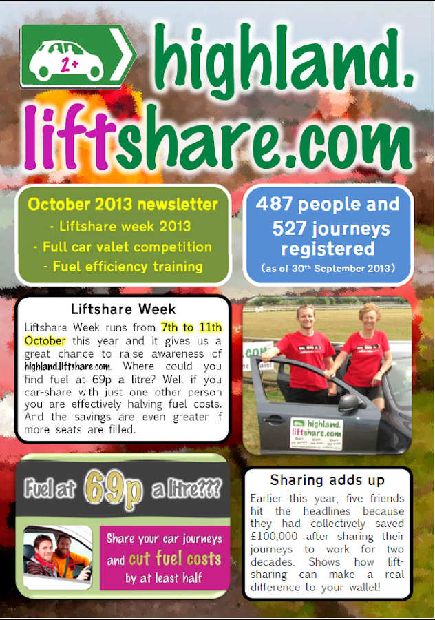 Photo: Highland Liftshare Newsletter Oct 2013