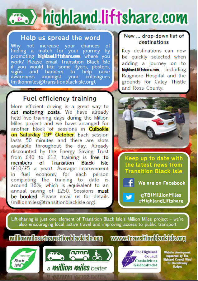 Photo: Highland Liftshare Newsletter Oct 2013