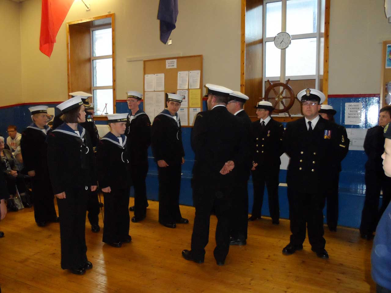 Photo: Sea Cadets Inspection At Kirkhill, Wick