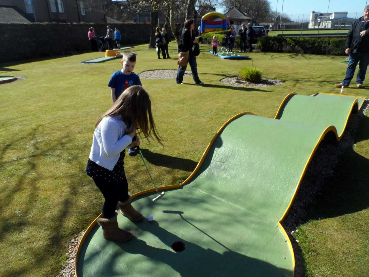 Photo: Wick Youth Club Re-opened The Crazy Golf At Rosebank Park