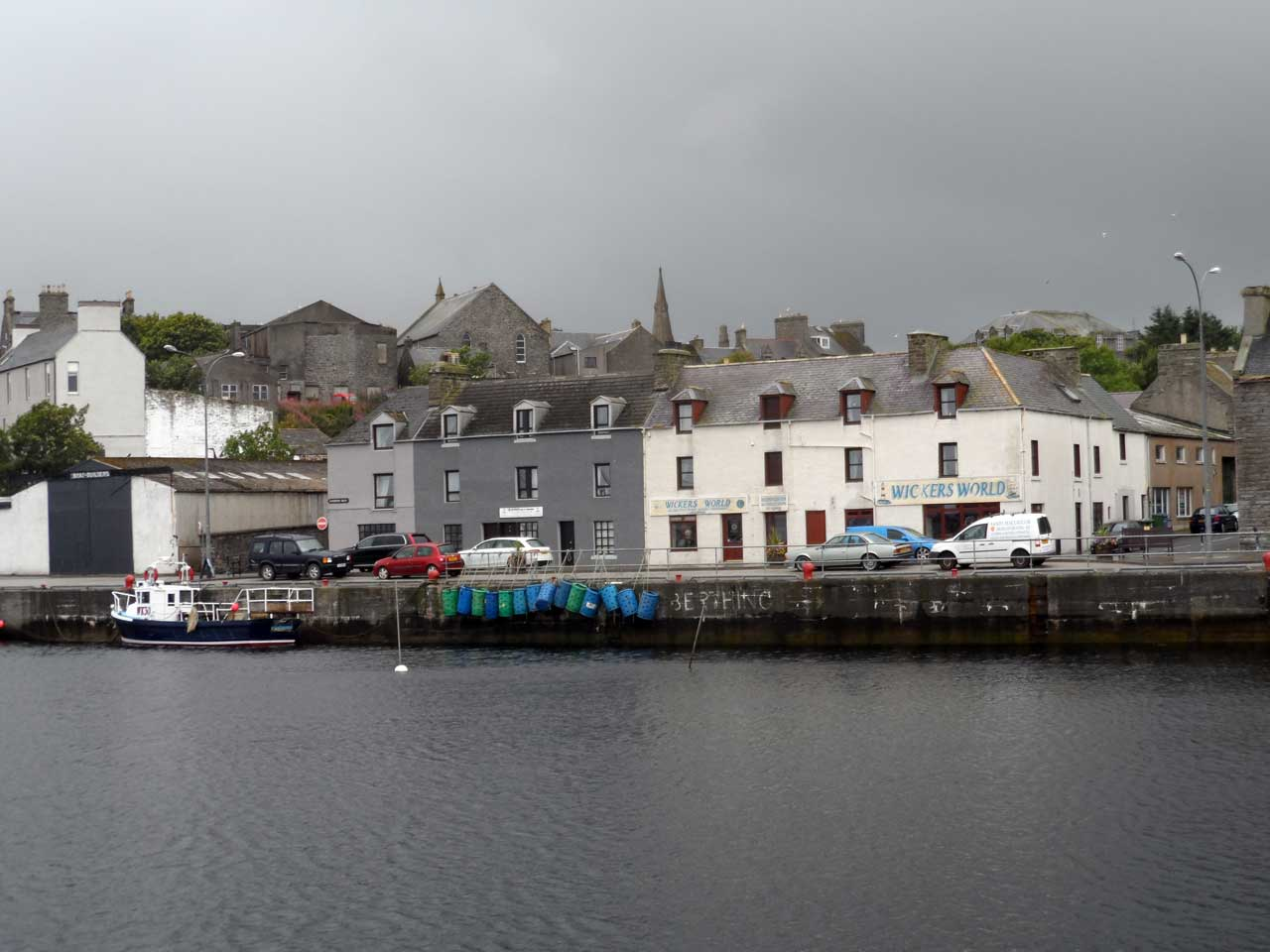 Photo: Wick Harbour On A Wet Day