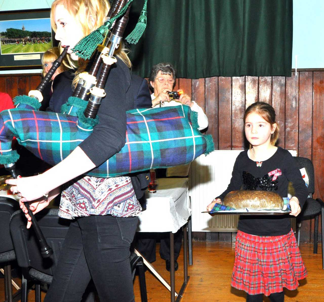 Photo: Burns Supper At Wick Pipe Band Hall