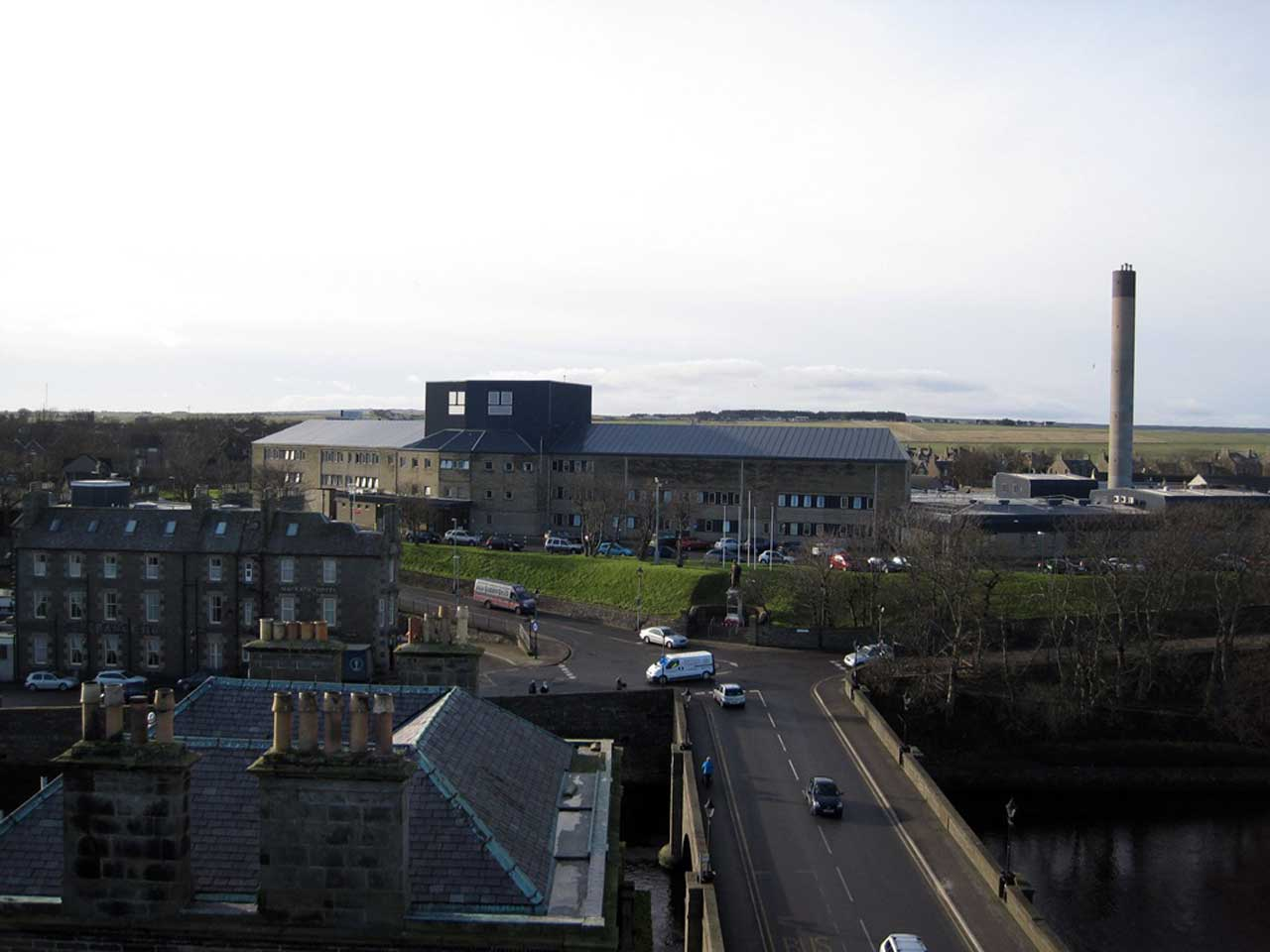 Photo: Bridge Street To Caithness General Hospital