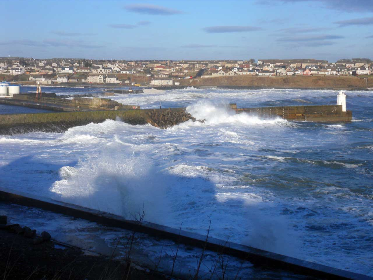 Photo: Still No Stopping The Waves In Wick Bay