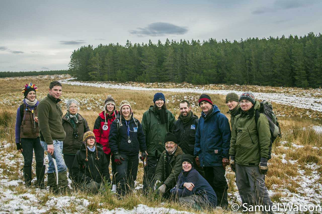 Photo: Caithness Countryside Volunteers Help Out At Forsinain, Surtherland
