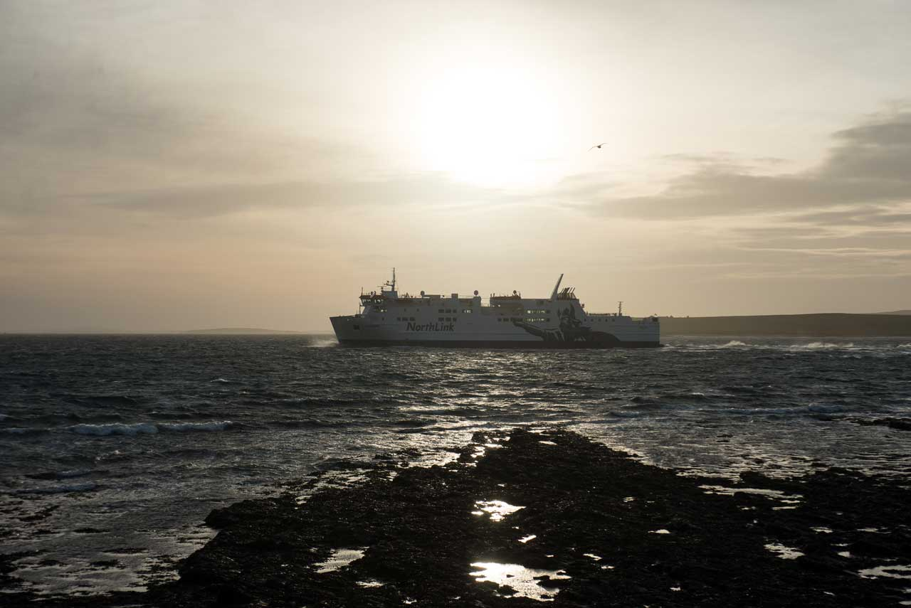 Photo: MV Hamnavoe Ferry In New Colours At Orkney