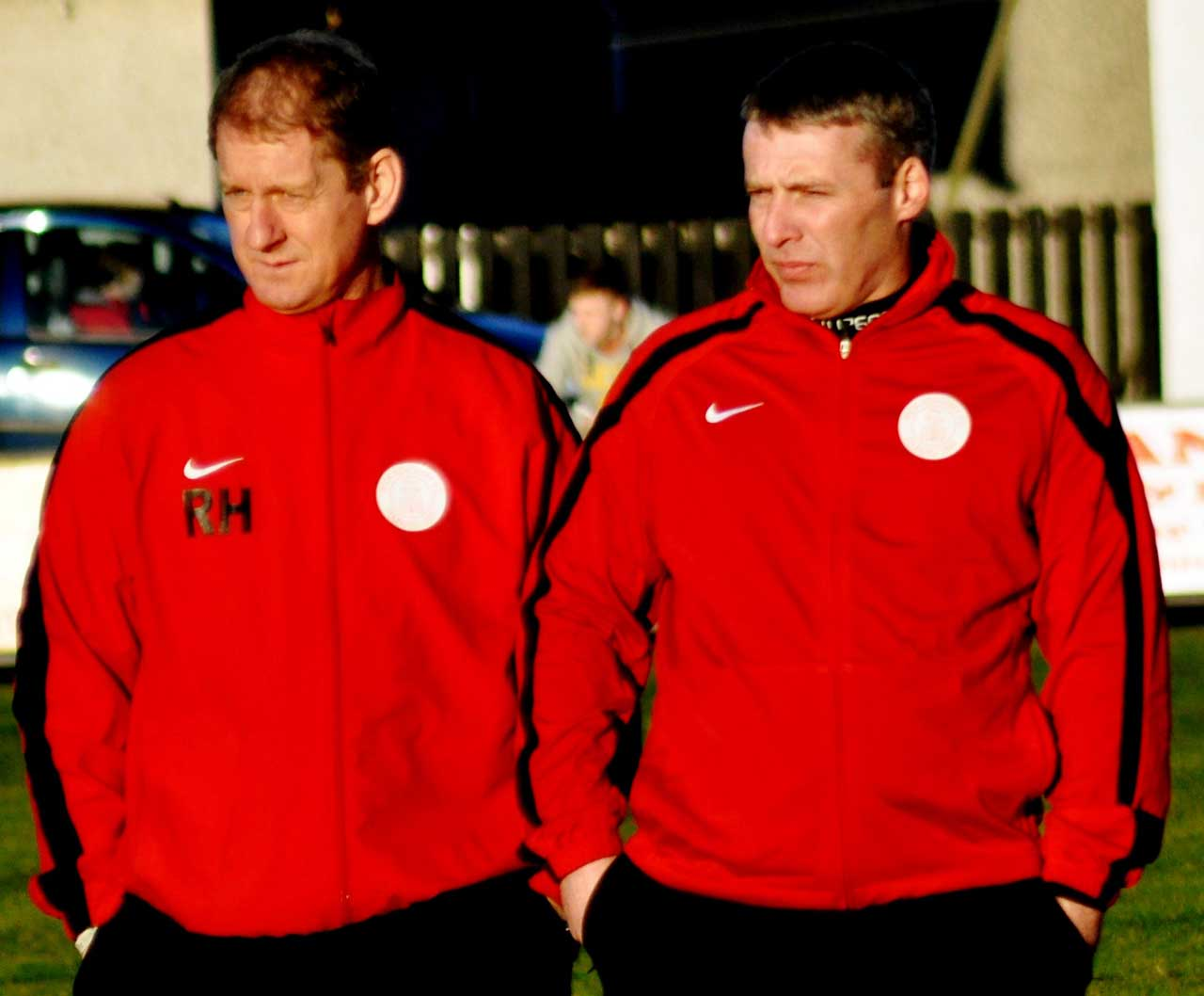 Photo: Richard Hughes Assistant Manager with Barry wilson Who Has Resigned
