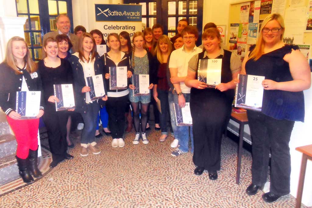 Photo: Caithness Young People Gain Saltire Awards