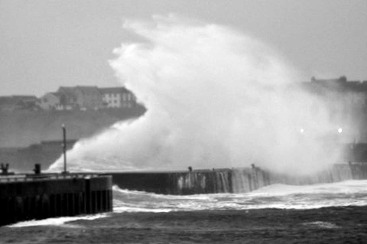 Photo: Storms Pounded Wick Bay