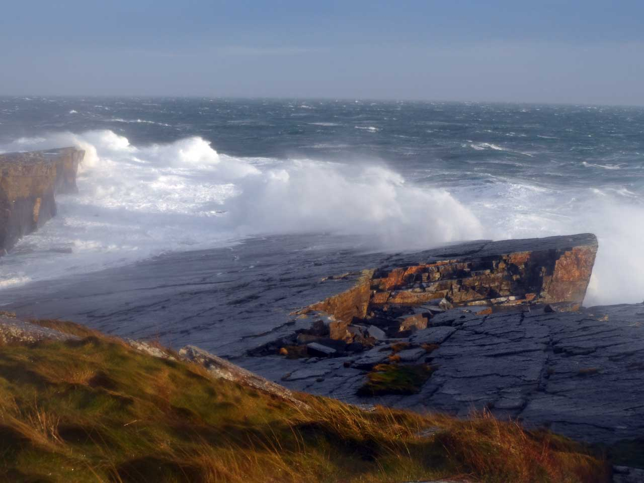 Photo: Trinkie Was The Place To See Spectacular Sea Spray 3rd January 2014