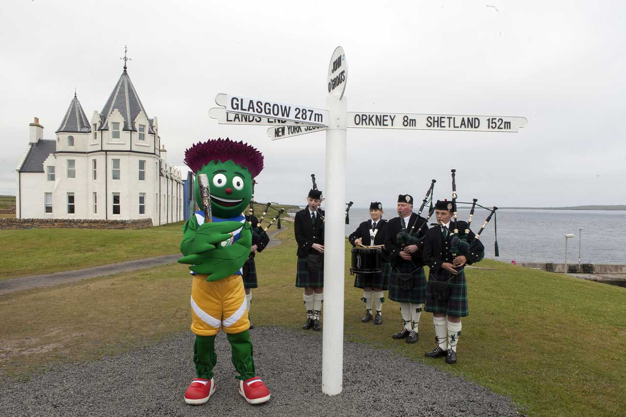 Photo: Baton Relay at John O'Groats 2014