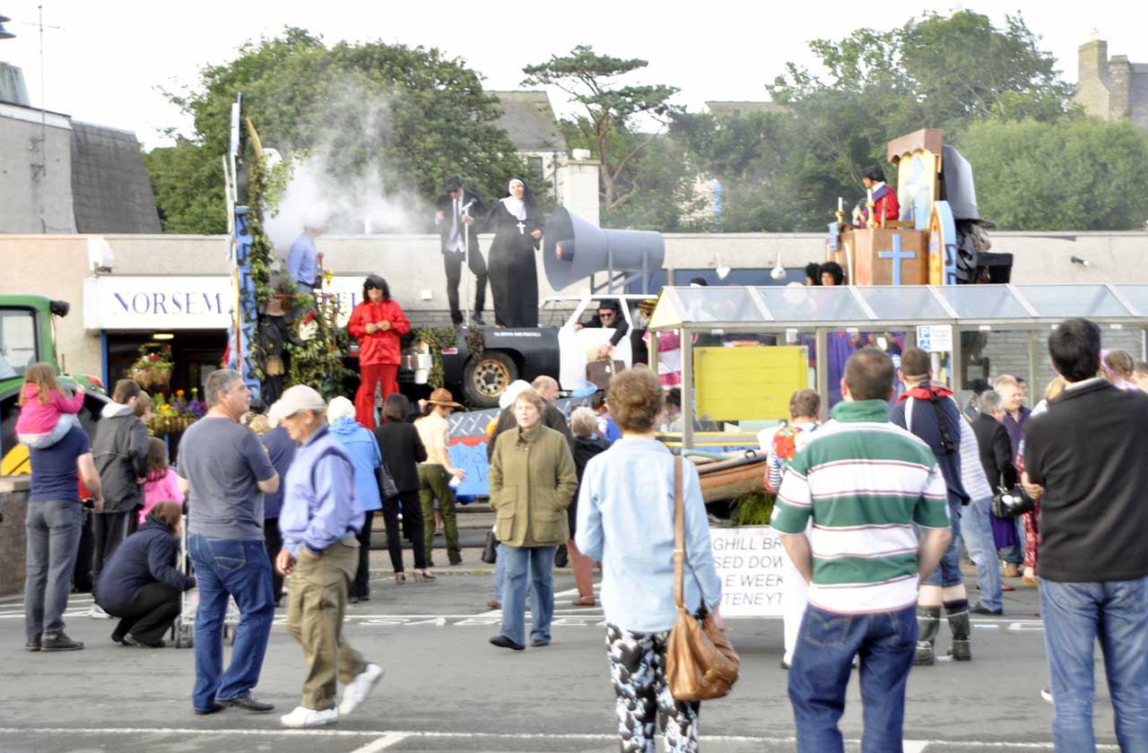 Photo: WICKERS refused to allow the rain to put a damper on their gala curtain-raiser