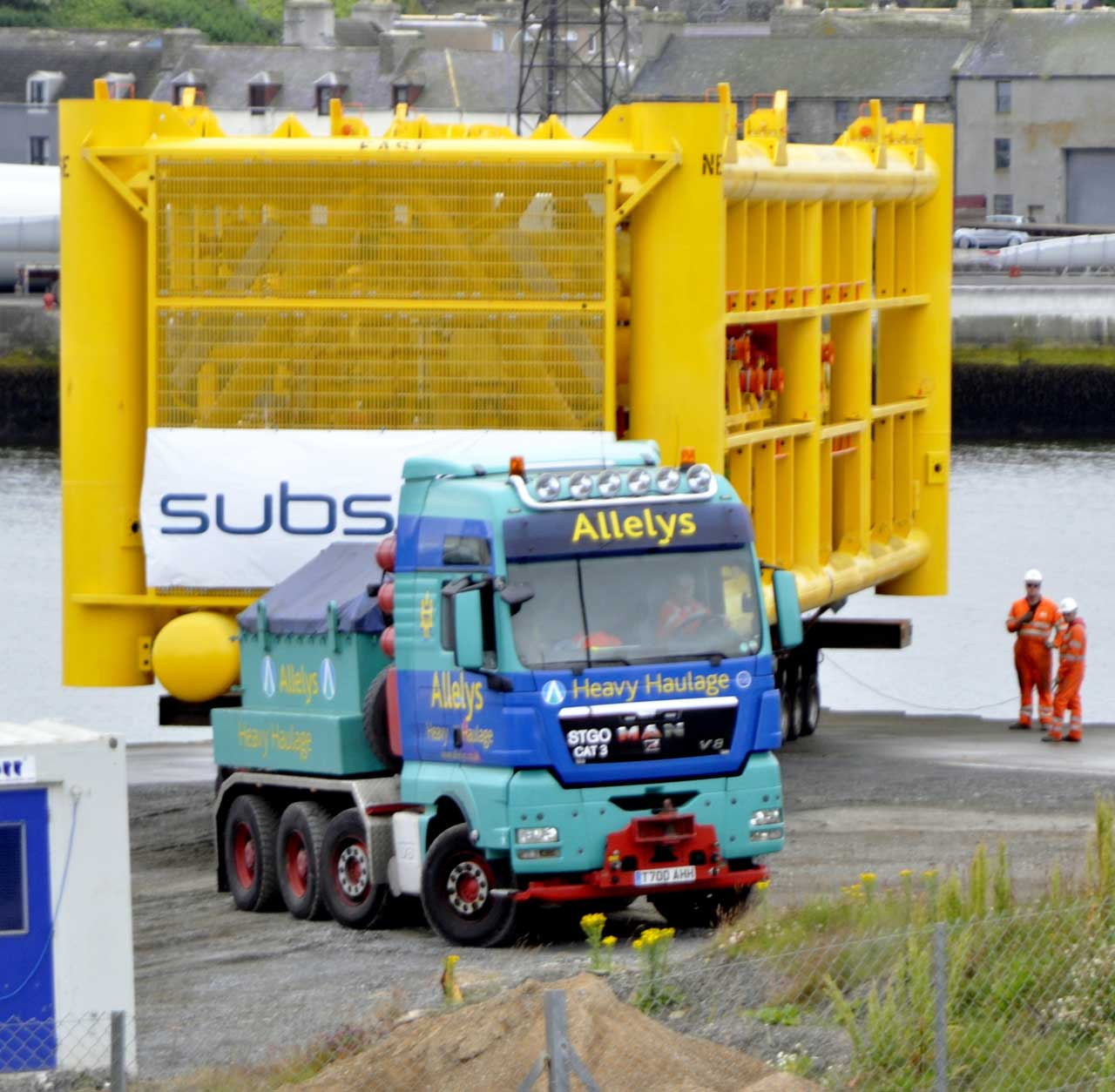 Photo: Big Towhead 197 Tonnes Bound For Wester From Wick Harbour
