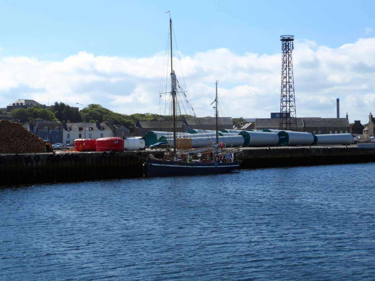 Photo: Training Ship Atlantica at Wick Harbour
