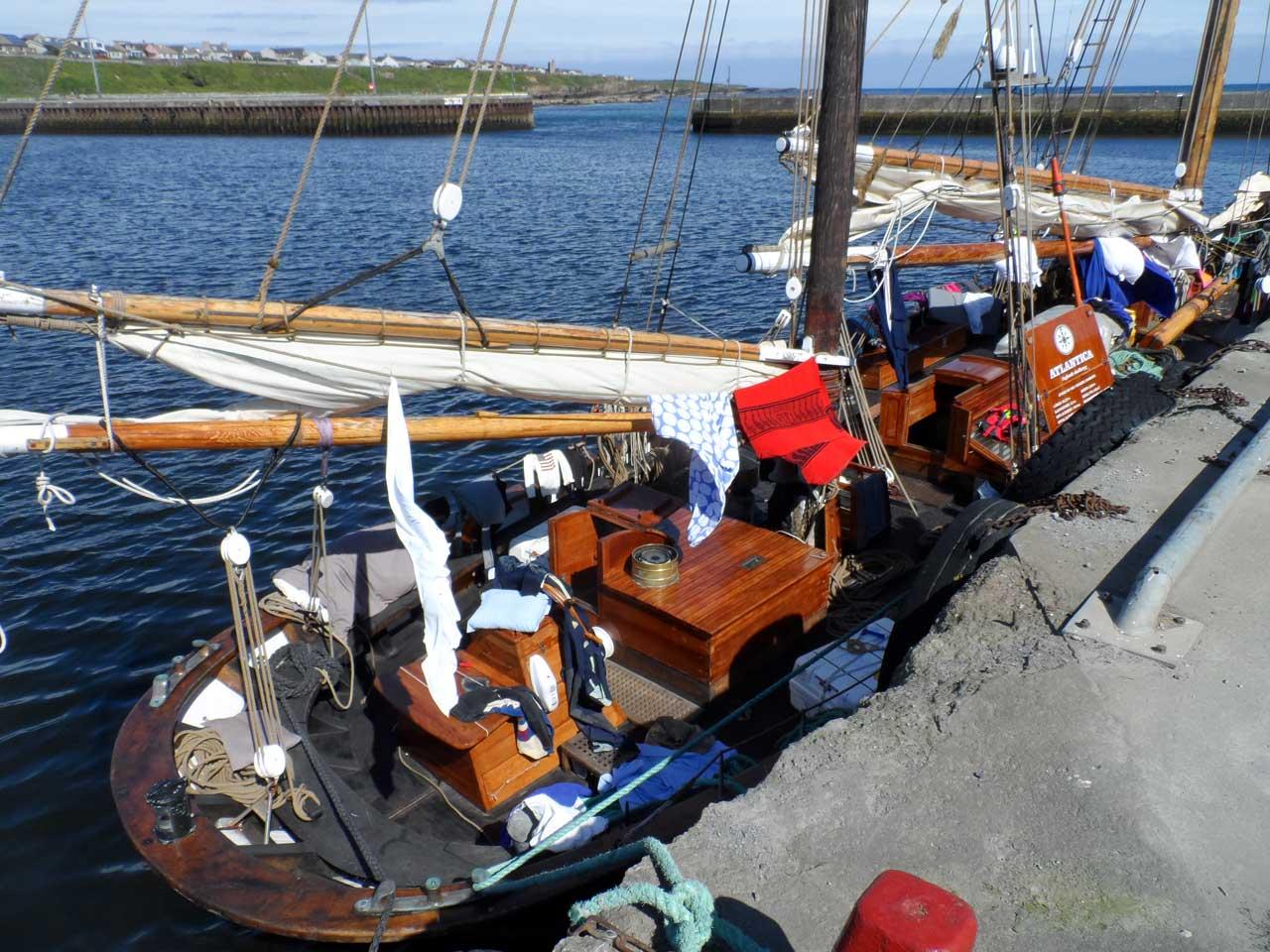 Photo: Training Ship Atlantica at Wick Harbour
