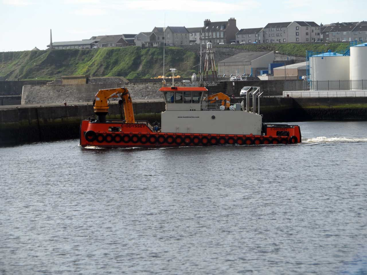 Photo: 170 Tonne Cable At Wick Bound For Subsea7 At Wester