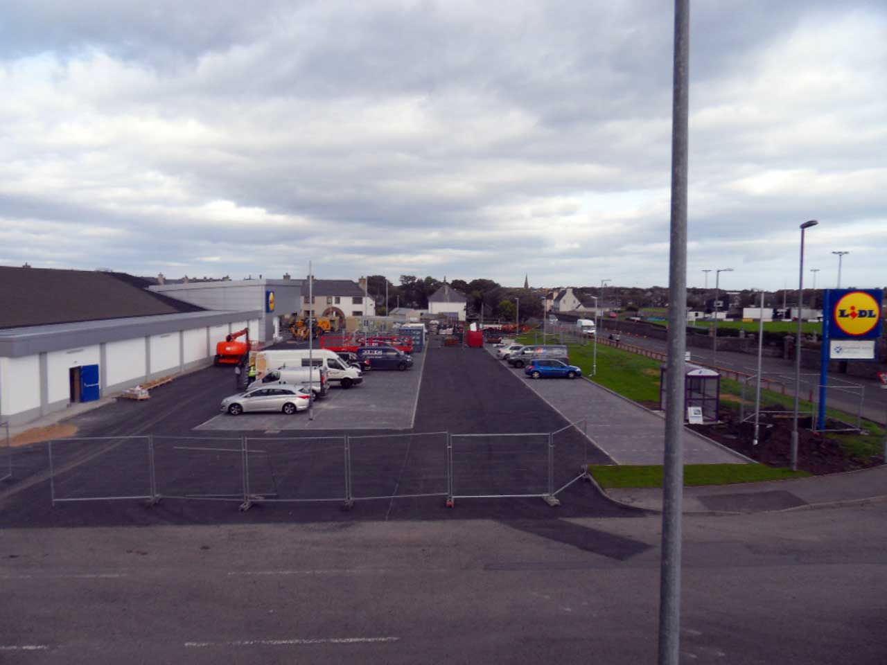 Photo: Lidl Extension Nears Completion, Wick - 27 September 2014