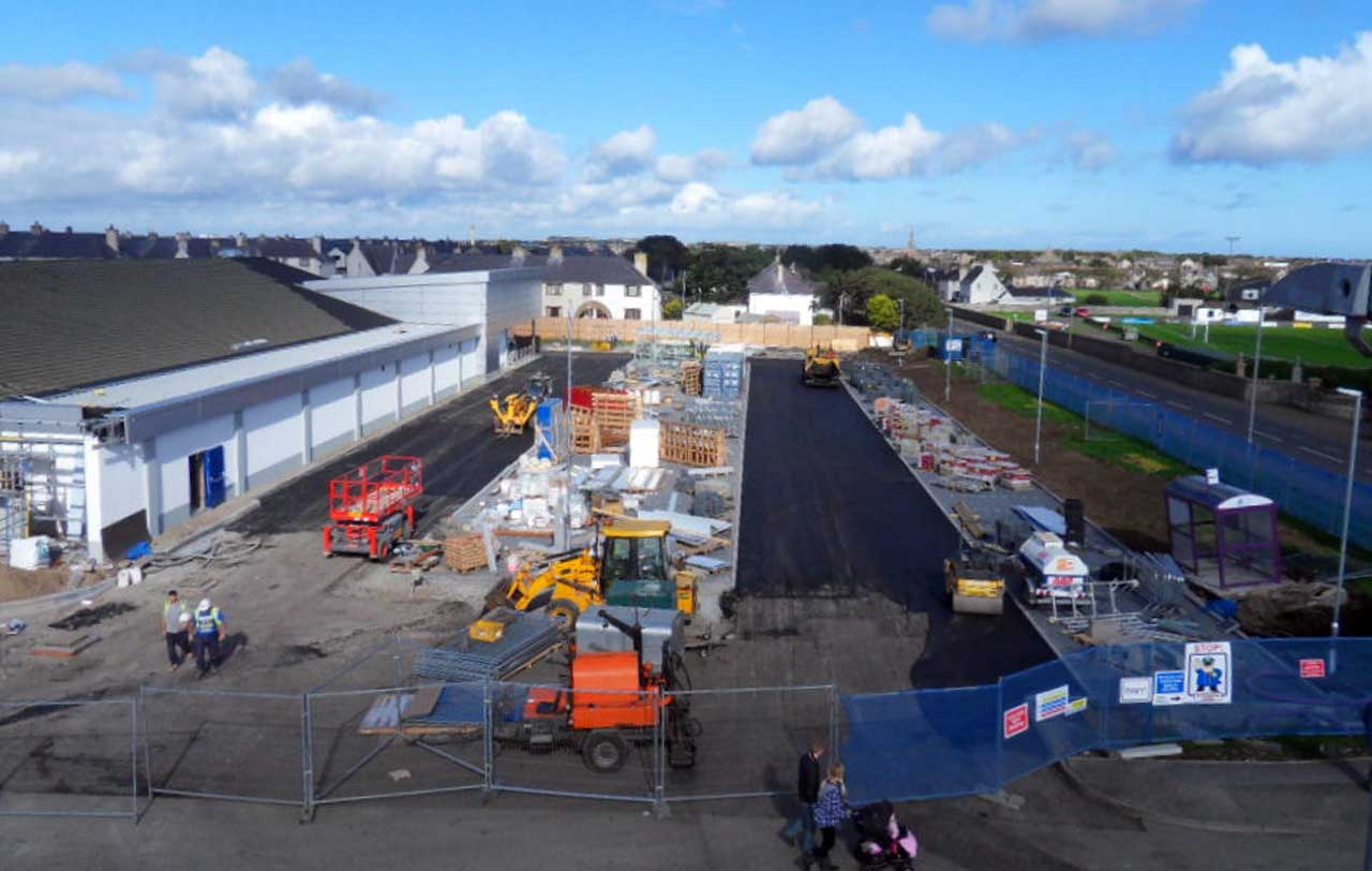 Photo: Lidl Extension Build, Wick - 20 September 2014