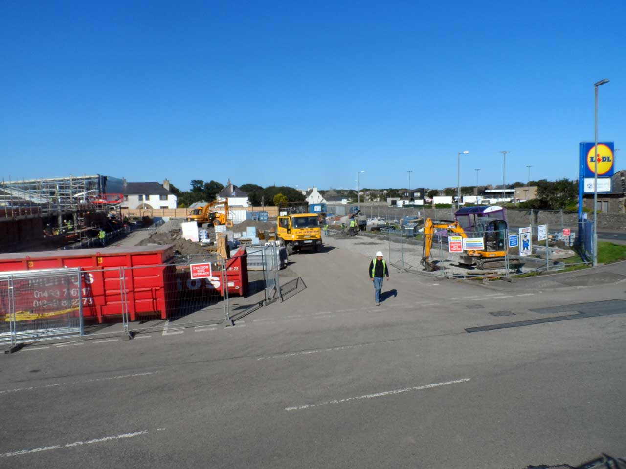 Photo: Lidl Extension Build, Wick - 27 August 2014