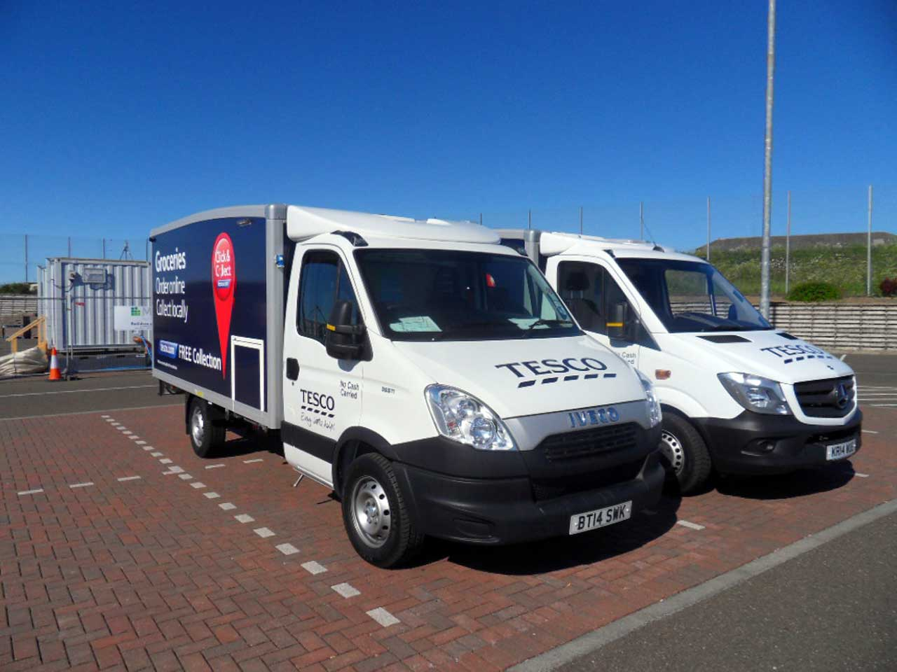 Photo: Tesco Wick Prepares For Big Increases In Click and Collect