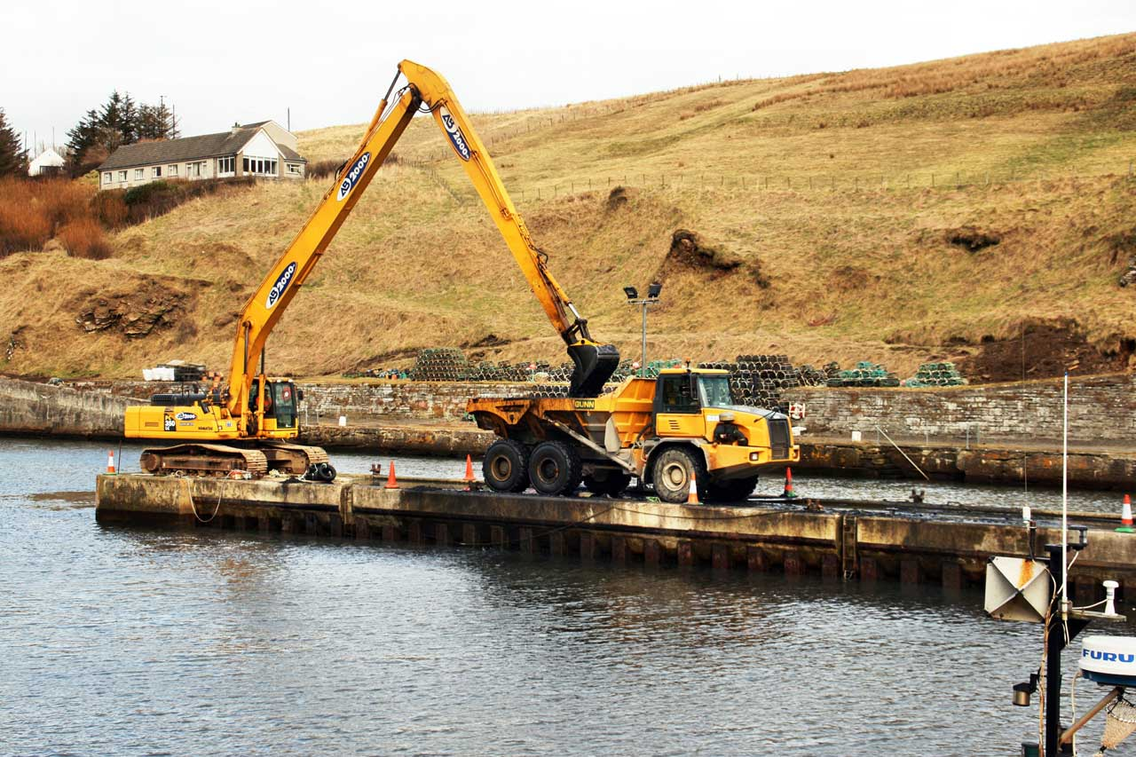 Photo: Deepening Lybster Harbour