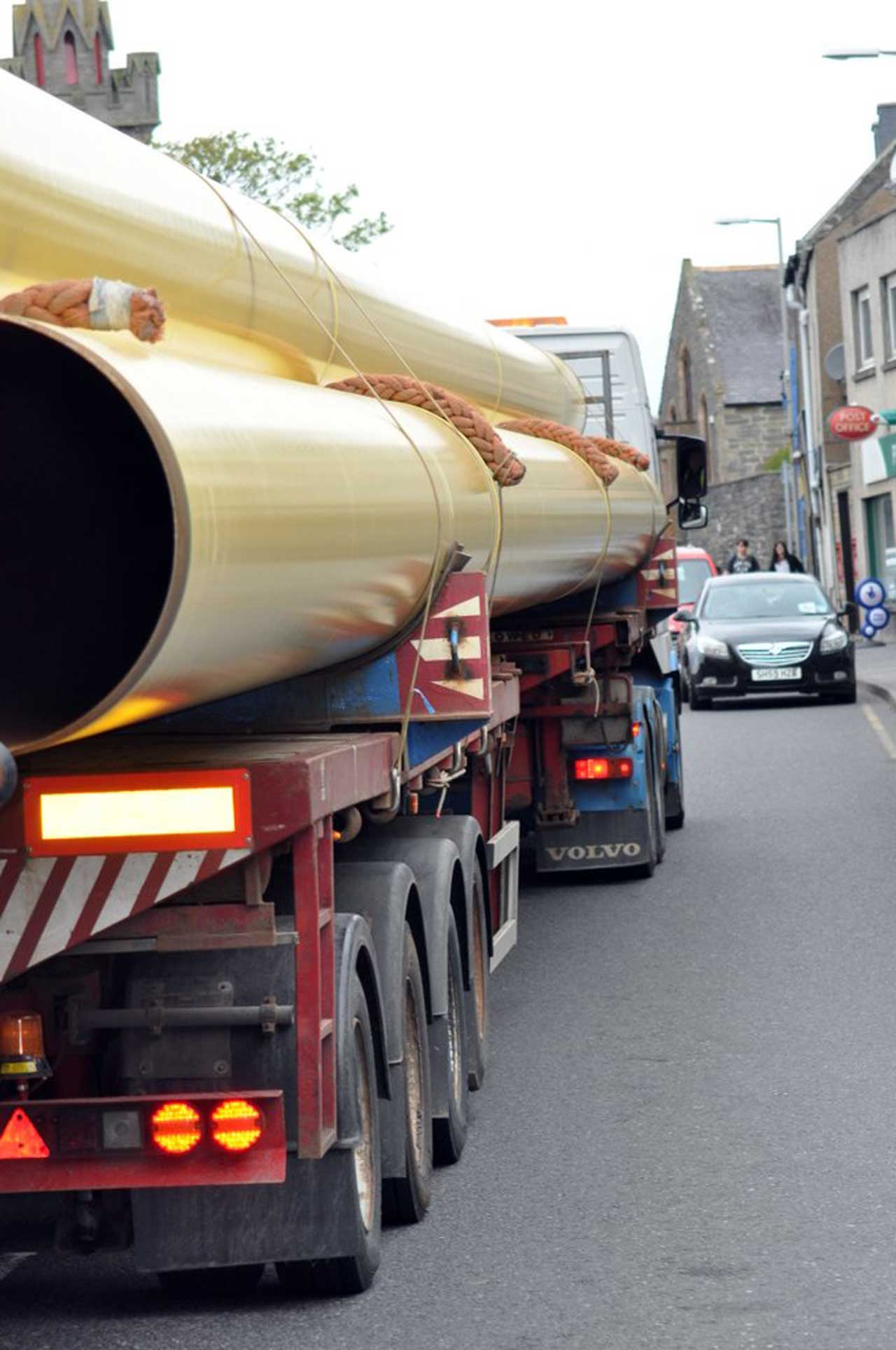 Photo: Pipes Move Through Wick Bound For Wester Yard