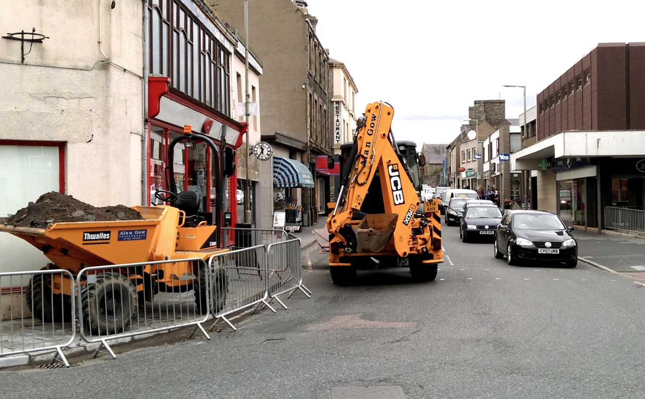Photo: Pavements Repaired In Wick